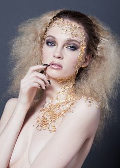 STYLING Model Face <~> :: Golden - Fashion Makeup Photography
