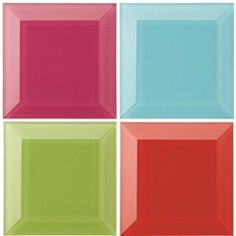 Colourful bevelled finishing tiles from Great Britain Tile