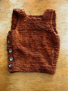 T H E . T H R I F T Y . K N I T T E R » Blog Archive » FREE PATTERN: Pebble (Henry's Cobblestone-inspired Manly Baby Vest)