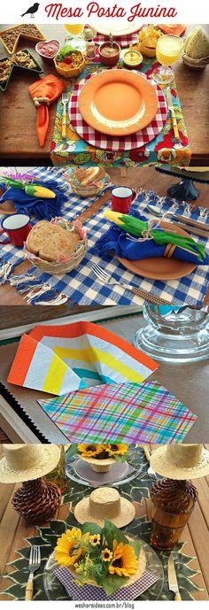 10 Inspirações de Mesa Posta Junina para celebrar o São João com bom gosto e estilo.