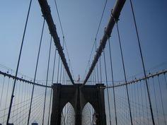 #brooklin #bridge #nyc #usa #sky