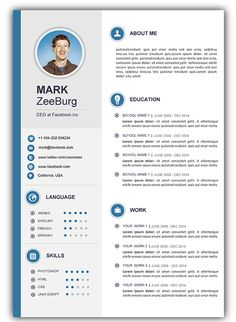 8 Best Free Resume Images Creative Resume Free Resume Format