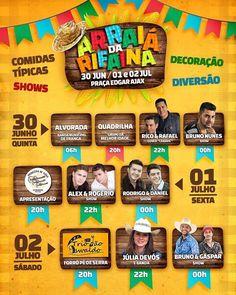 COMEÇA NESTA QUINTA-FEIRA A TRADICIONAL FESTA JUNINA ARRAIÁ DA RIFAINA