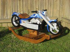 Chace, The Chopper - Custom Designed Wooden Motorcycle Rocker. $3,500.00, via Etsy.
