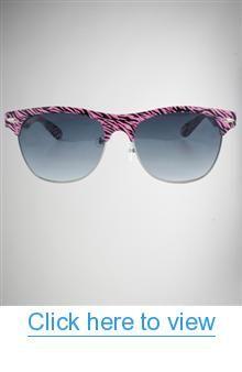 Pink Zebra Frame Pretender Sunglasses #Pink #Zebra #Frame #Pretender #Sunglasses