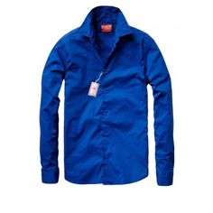 BASIC LS SHIRT IN COTTON LYCRA - Shirts - Tops - Men Scotch & Soda