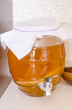 Making Kombucha from Scratch is 30 times cheaper and couldn't be easier. All you need is a bottle of store bought kombucha, sugar, tea and water, and you can grow your own SCOBY and brew kombucha at home. | ifoodreal.com