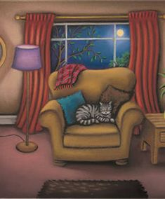 A Cats Life by Paul Horton - Contemporary Paintings & fine art pictures available in our gallery - Free delivery on all orders over Drawing Skills, Cat Drawing, Paul Horton, Art Pictures, Photos, Lovely Creatures, Contemporary Paintings, Cat Life, Cat Art