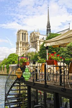 Last time we were in Paris, we had lunch at this restaurant with a great view of Notre Dame.