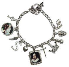 Shakespeare charms bracelet by Pendientera
