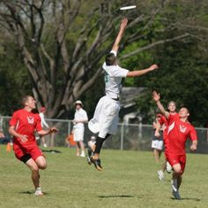 Jumping up to keep the disk inbound. Ultimate Frisbee is a sport that requires you to be in good shape