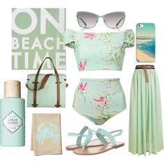 """Beach - Toned Spring"" by prettyyourworld on Polyvore"