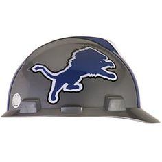 Detroit Lions Hard Hat - http   www.industrialsafety.com MSA 542a1b517