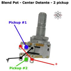 2 Pickup Blend Pot Guitar Wiring