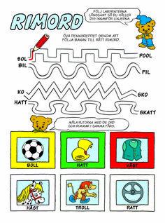 Kul att lära - Pyssel – Bamse Too Cool For School, Educational Activities, Pre School, Speech Therapy, Montessori, Cool Kids, Crafts For Kids, Troll, Classroom