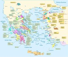 This is a map showing where all of the characters originated in Homer's epic poem The Iliad. I know Greece is small by today's s...