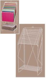 FLOOR-STANDING WIRE TISSUE PAPER RACK - WHITE - 84301