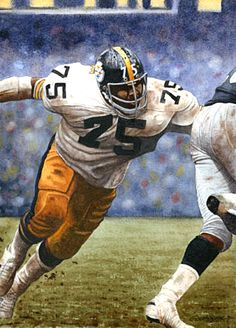 Joe Greene, Pittsburgh Steelers. Painting by G.T. Johnson II.