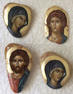 Icons on the stones by Jolanta Kuderska.