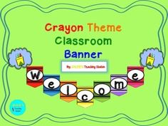 Are you looking to incorporate a crayon theme into your classroom?  If so this is just the product for you!  Here is a cute crayon theme welcome banner with crayon shapes and colors.If you like this product and are looking for more crayon theme products, check out some of my other crayon packets on my store.Enjoy and happy decorating!