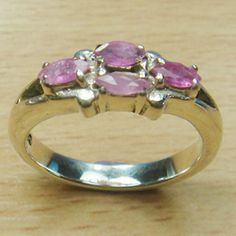 Marquise Cut Genuine Ruby Marcasite 925 Sterling Silver Ring