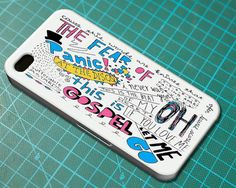 Panic! At The Disco Lyric 2 Cover - iPhone 4 4S iPhone 5 5S 5C and Samsung Galaxy S3 S4 Case on Etsy, $12.99