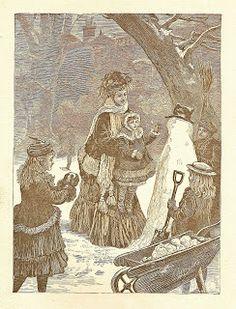 Victorian Christmas Clip Art | Free Vintage Clip Art - Victorian Snow Day