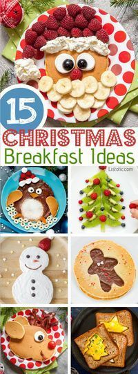Over 15 fun and easy Christmas breakfast ideas for kids! These creative recipes are so simple and easy to make, but are sure to make Christmas morning extra special. Everything from pancakes to toast and oatmeal! Listotic.com