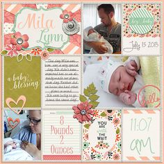 Layout by Fioontje Bingo Challenge - March 2015. 22: 'Do It Pocket Style.'  Credits: Everyday Life: Great Expectations - Meghan Turnidge & Tickled Pink Studio The Easy Life Template Freebie - Jady Day Studio #sweetshoppedesigns #digitalscrapbooking #layout #scrapbook #baby #pocketscrapping #projectlife #pocketpage