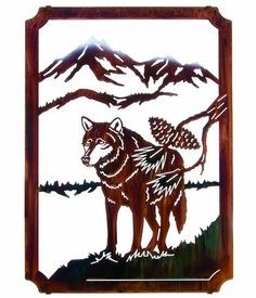"22"" Lone Wolf (Framed) Metal Wall Art by Neil Rose"