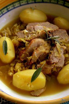 庶民的な豚肉とキャベツと林檎のシードル煮【Fleur de sel 塩の華】