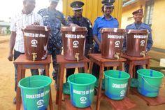 Sanitation supplies in Port Loko, Sierra Leone.