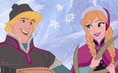 Anna and Kristoff. Disney Frozen.