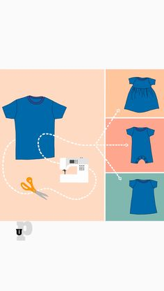Upcycle an adult t-shirt into a baby DIY t-shirt romper with this free sewing pattern in size 6 mos. It's a great way to save money and save time! I love cutting up clothing to make something new. It's so great to be able to reuse something I have and to save time and money! Enjoy this free pattern for a DIY t-shirt romper for your baby. I just love baby sewing projects! They are so sweet and tiny and cute!