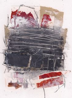 Abstract Collage Painting by Marie Bortolotto