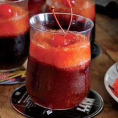 Rockin' Karaoke Party: Rock & Roll Slushies: A sweet harmony of Jack Daniels whiskey, cola and maraschino cherry syrup.