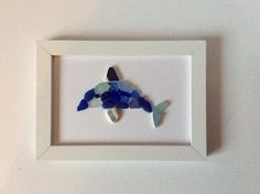 Seaglass art Dolphin Picture Scottish sea by Suzziesbitsandbobs