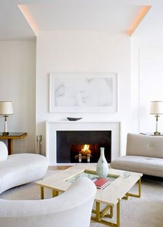 If you are looking to give your room a focal point or something to highlight it, look no further than the fireplace mantel that's already there. Many tend to leave their fireplace mantels bar… Home Fireplace, Modern Fireplace, Fireplace Surrounds, Fireplace Design, Simple Fireplace, Fireplaces, Modern Mantle, Fireplace Frame, Fireplace Ideas