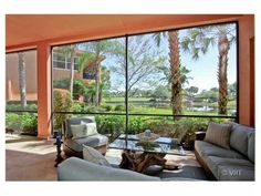 Living room waterviews. Country Club at Mirasol.