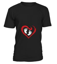 Baby Heart Feet Vintage Valentines Day Maternity Tshirt  Funny Baby T-shirt, Best Baby T-shirt