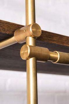 Brass Shelve Rod Detail