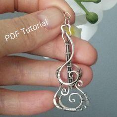 PDF tutorial with templates Wire Jewelry Designs, Handmade Wire Jewelry, Metal Jewelry, Jewelry Crafts, Jewelry Trends, Jewelry Accessories, Silver Jewellery, Wire Jewelry Patterns, Women Accessories