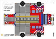 Brandweerauto bouwplaat - YorLogo.nl