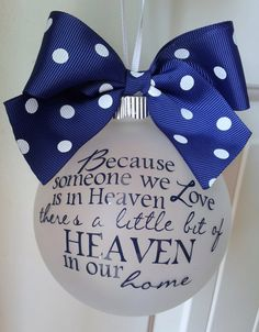 Because Someone We Love Is In Heaven by LittleOnceBoutique on Etsy, $15.00