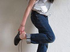 brogues, stripes, denim