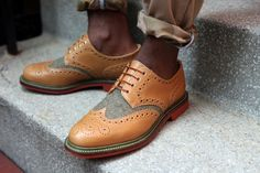 A must have shoe style for men and young men around step it up women love love a well dressed gentleman. Mark McNairy x Bodega - Olive Wool country brogue shoe Me Too Shoes, Men's Shoes, Shoe Boots, Dress Shoes, Sharp Dressed Man, Well Dressed Men, Estilo Preppy, Fashion Shoes, Mens Fashion