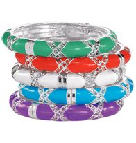 Embellished Cross Bangle SPECIAL OFFER Colorful Fashion Jewelry - 2 for $20! Mix or match select styles. SAVE up to $19.98!  Shop Now