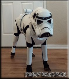 Stormtrooper Penny Diy Dog Costumes, Dog Halloween Costumes, Costume Ideas, Sci Fi, Superhero, Pets, Dog Stuff, Star Wars, Fantasy