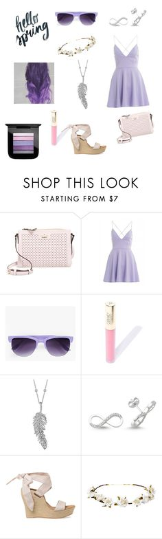 """""""Violet Perfection"""" by franci-romeo ❤ liked on Polyvore featuring Kate Spade, AX Paris, Boohoo, Penny Preville, Amorium, UGG Australia, Cult Gaia and MAC Cosmetics"""