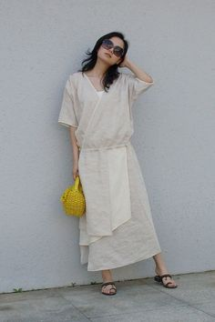 Linen skirt more colour and size choiceO9 by thesimpson on Etsy, $62.00